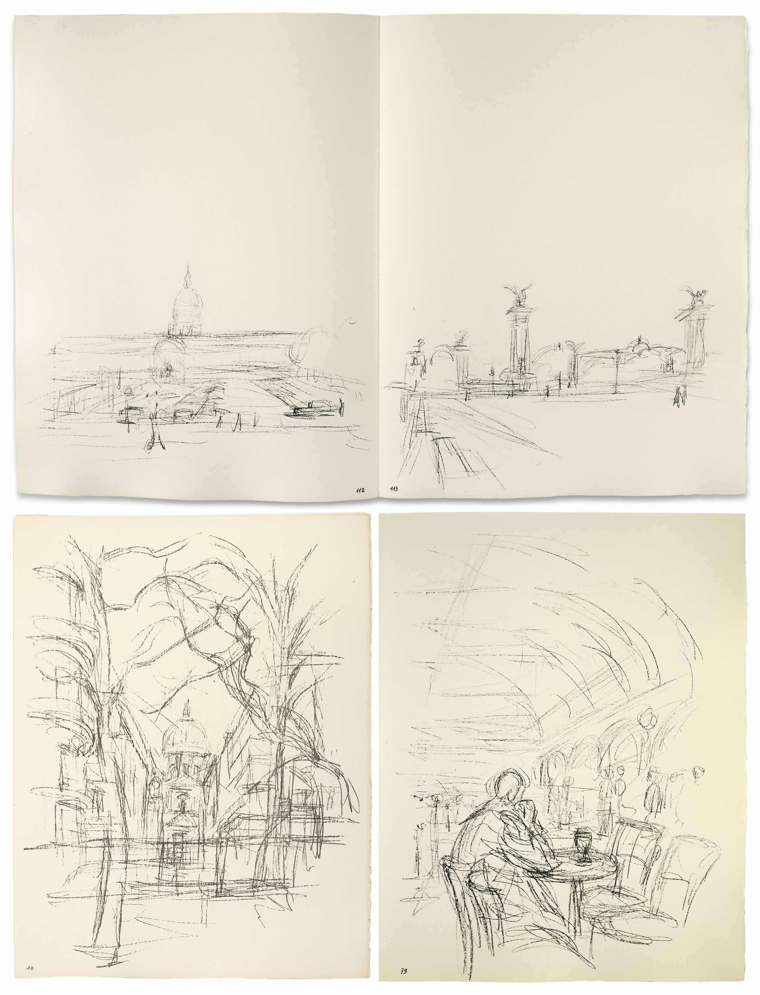 GIACOMETTI, Alberto (1901-1966). Paris sans fin . Paris : Tériade [Éditions...