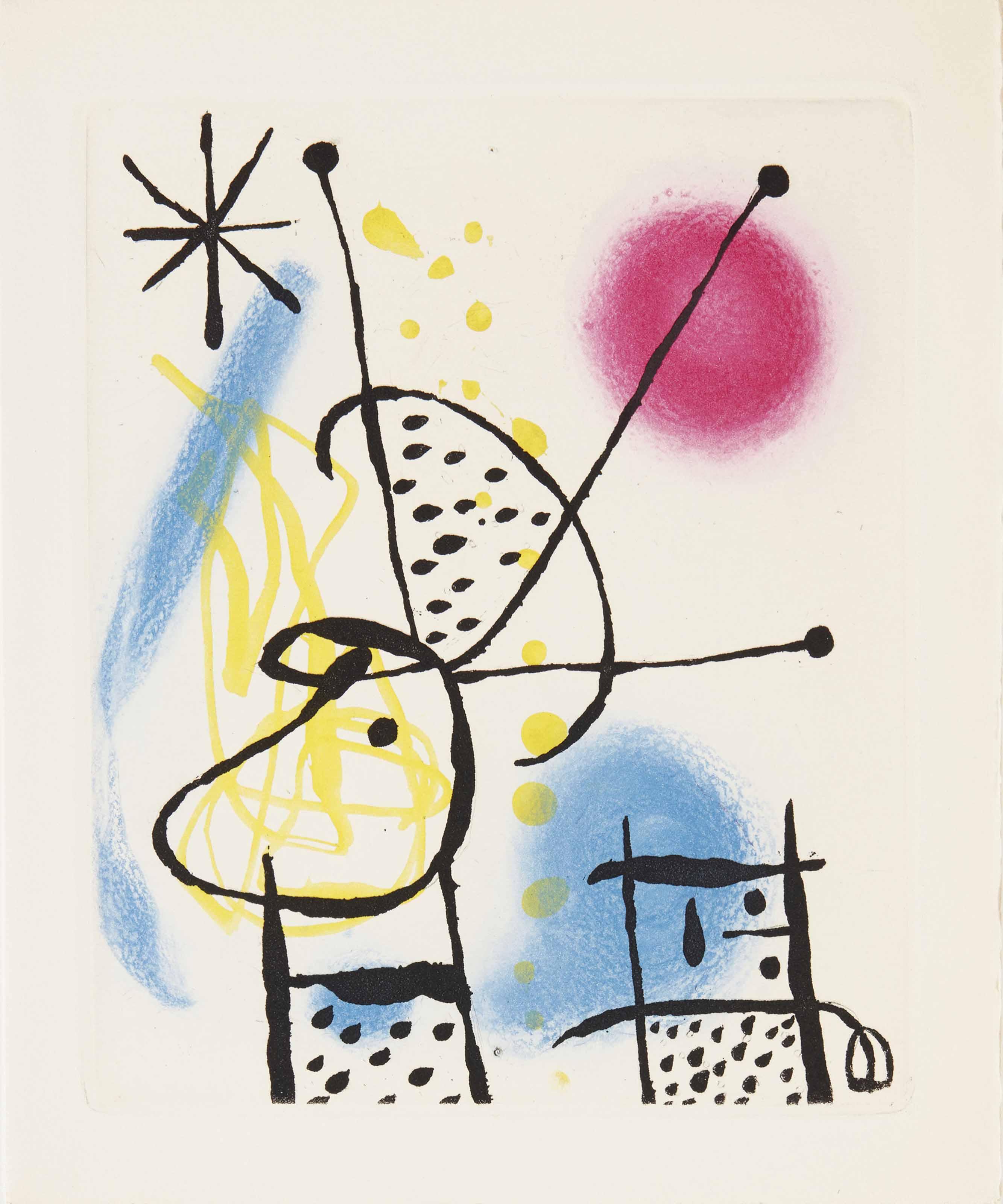 [MIRO, Joan (1893-1983)] - CREVEL, René (1900-1935). La Bague d'aurore. Paris: Louis Broder, 1957.