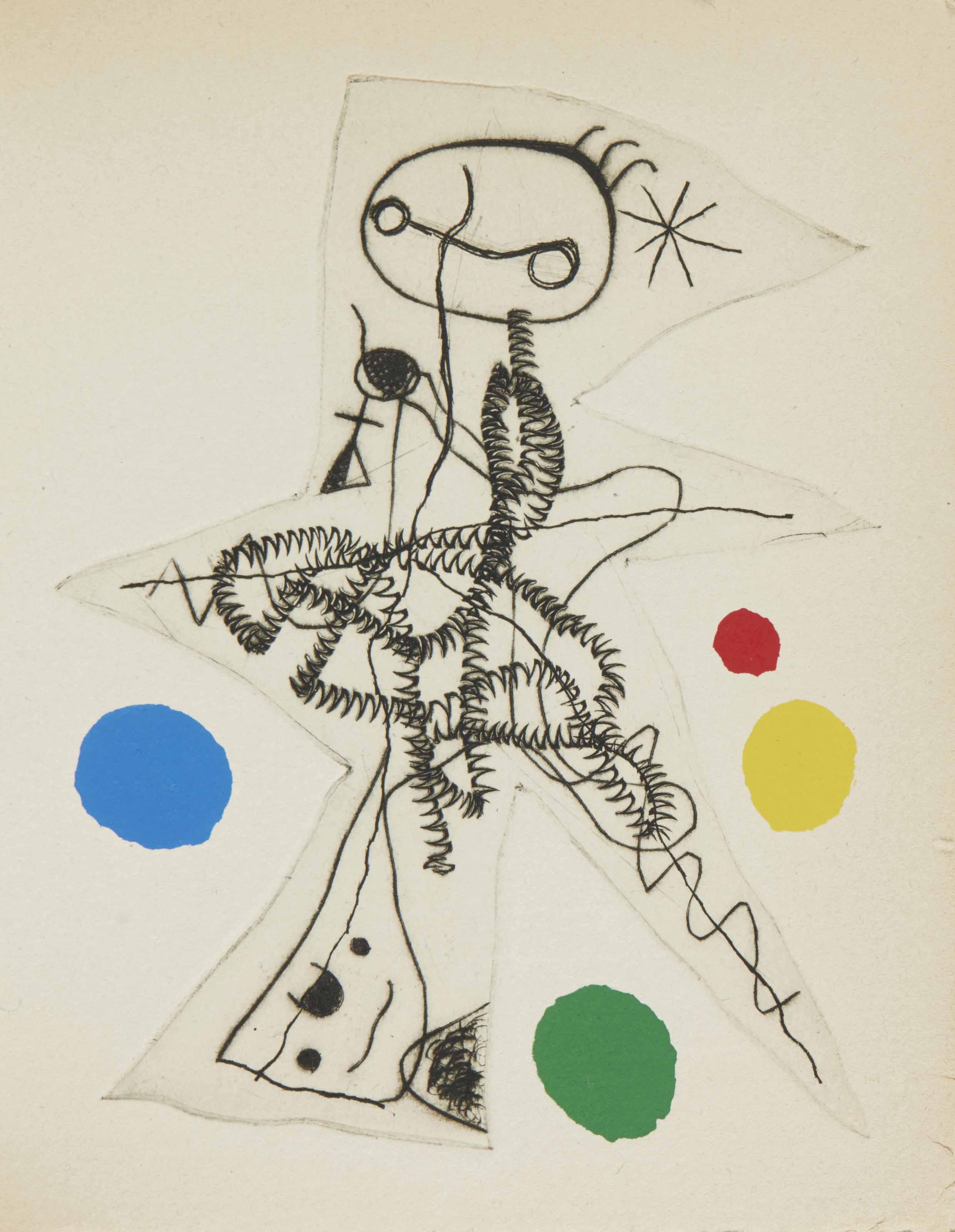 TZARA, Tristan (1896-1963) - ERNST, Max (1891-1976) - MIRO, Joan (1893-1983) - TANGUY, Yves (1900-1955). L'Antitête. I: Monsieur Aa l'Antiphilosophe. II: Minuits pour géants. III: Le Désespéranto. Paris: Bordas, 1949.