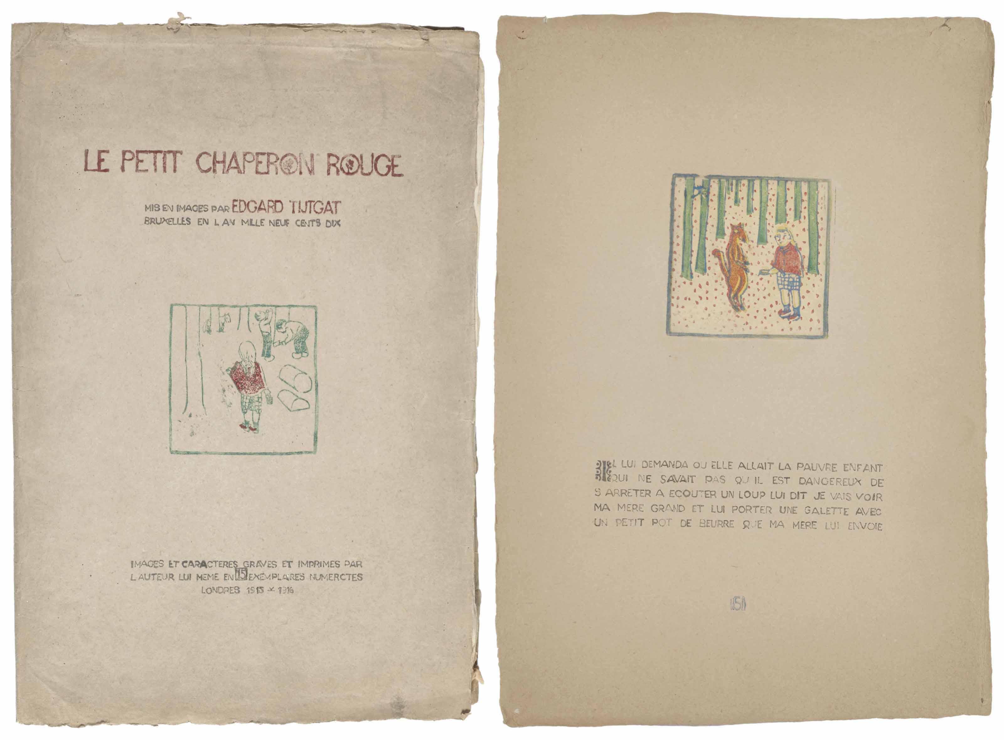 [TIJTGAT, Edgard (1879 – 1957)] - PERRAULT, Charles (1628 – 1703). Le Petit Chaperon Rouge. Londres, 1917.