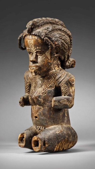 The Durand-Dessert Bassa figure, Liberia. Height 44.4  cm (17½  in). Estimate €600,000-900,000. Offered in Future Perfect The African Art Collection of Liliane and Michel Durand-Dessert on 27 June 2018 at Christie's in Paris