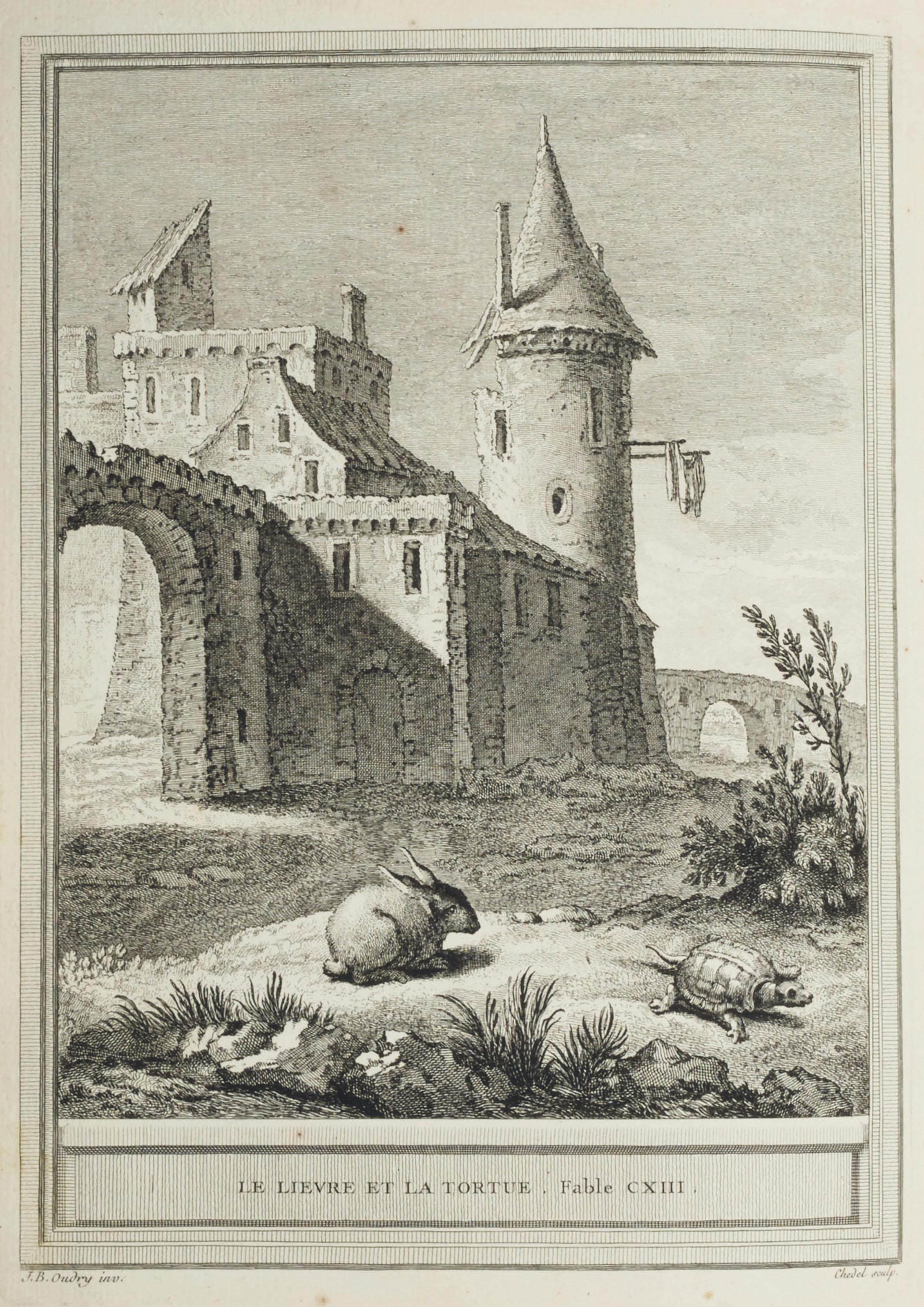 LA FONTAINE, Jean de (1621-1695). Fables choisies, mises en vers. Paris : Charles-Antoine Jombert pour Desaint & Saillant et Durand, 1755-1759.