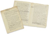 VOLTAIRE, François-Marie Arouet, dit (1694 – 1778). Chapitre 22. En quoi le christianisme pouvait être utile. [de : Histoire de l'établissement du christianisme]. Manuscrit autographe abondamment corrigé. [1776]