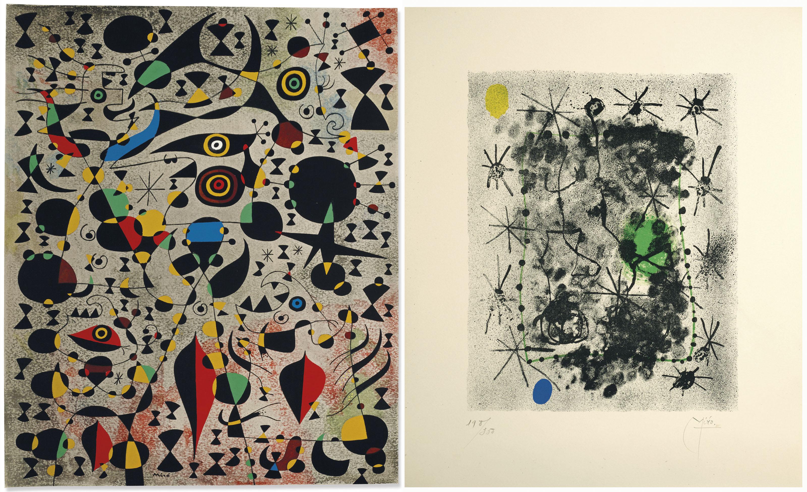[MIRO, Joan (1893-1983)] -- BRETON, André (1896-1966). Constellations. Introduction et vingt-deux proses parallèles par André Breton. New York : Pierre Matisse, 1959.