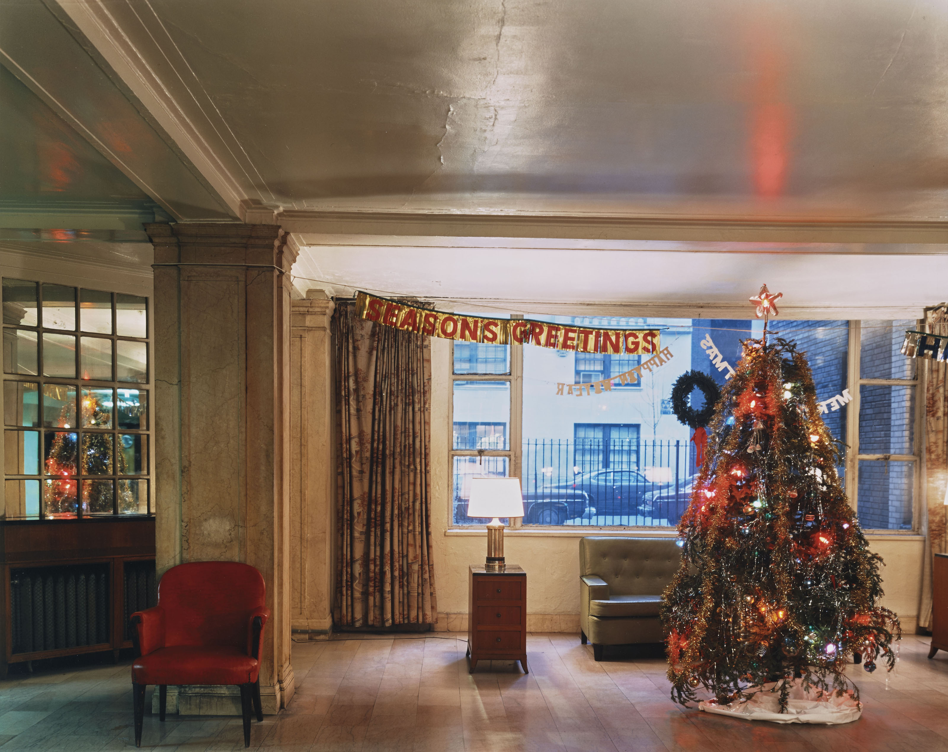 Christmas Tree in Lobby, New York City, 1977