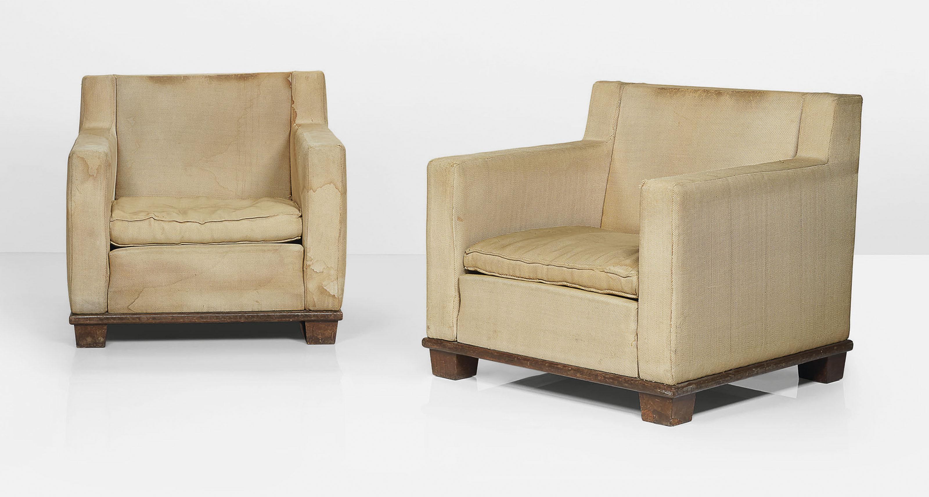 La Compagnie Du Hetre jacques adnet (1900-1984) | paire de fauteuils, ÉditÉs par