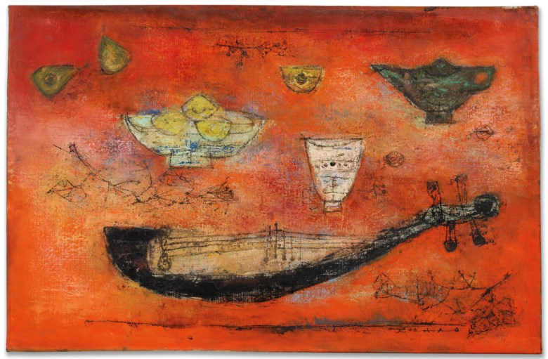 Zao Wou-Ki (1920-2013), Bonne année, 1953. 65 x 100  cm. Estimate €3,000,000-5,000,000. This lot is offered in Post-war and Contemporary Art on 4 December 2018 at Christie's in Paris