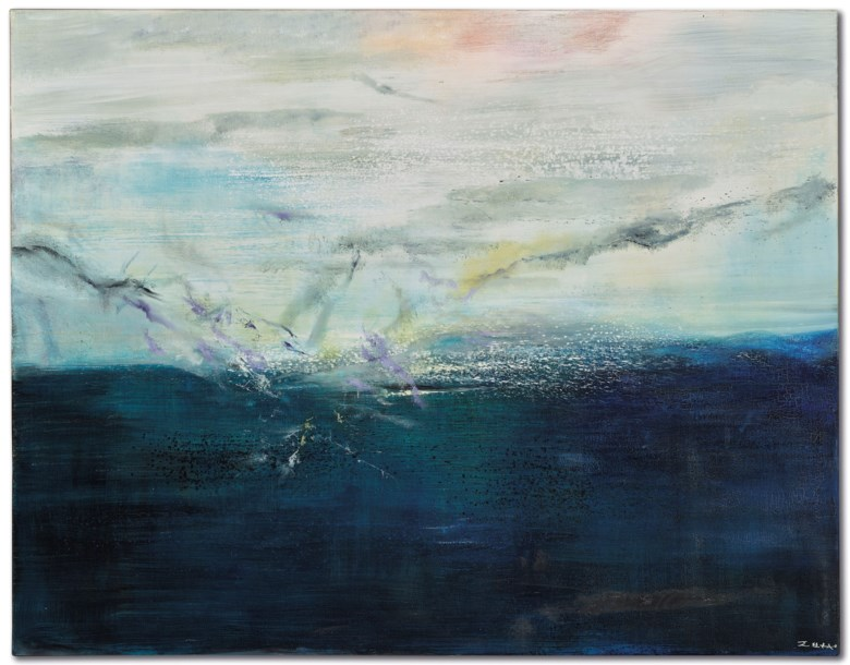 Zao Wou-Ki (1920-2013), 18.06.2001, 2001. 114 x 146  cm. Estimate €400,000-600,000. This lot is offered in Post-war and Contemporary Art on 4 December 2018 at Christie's in Paris