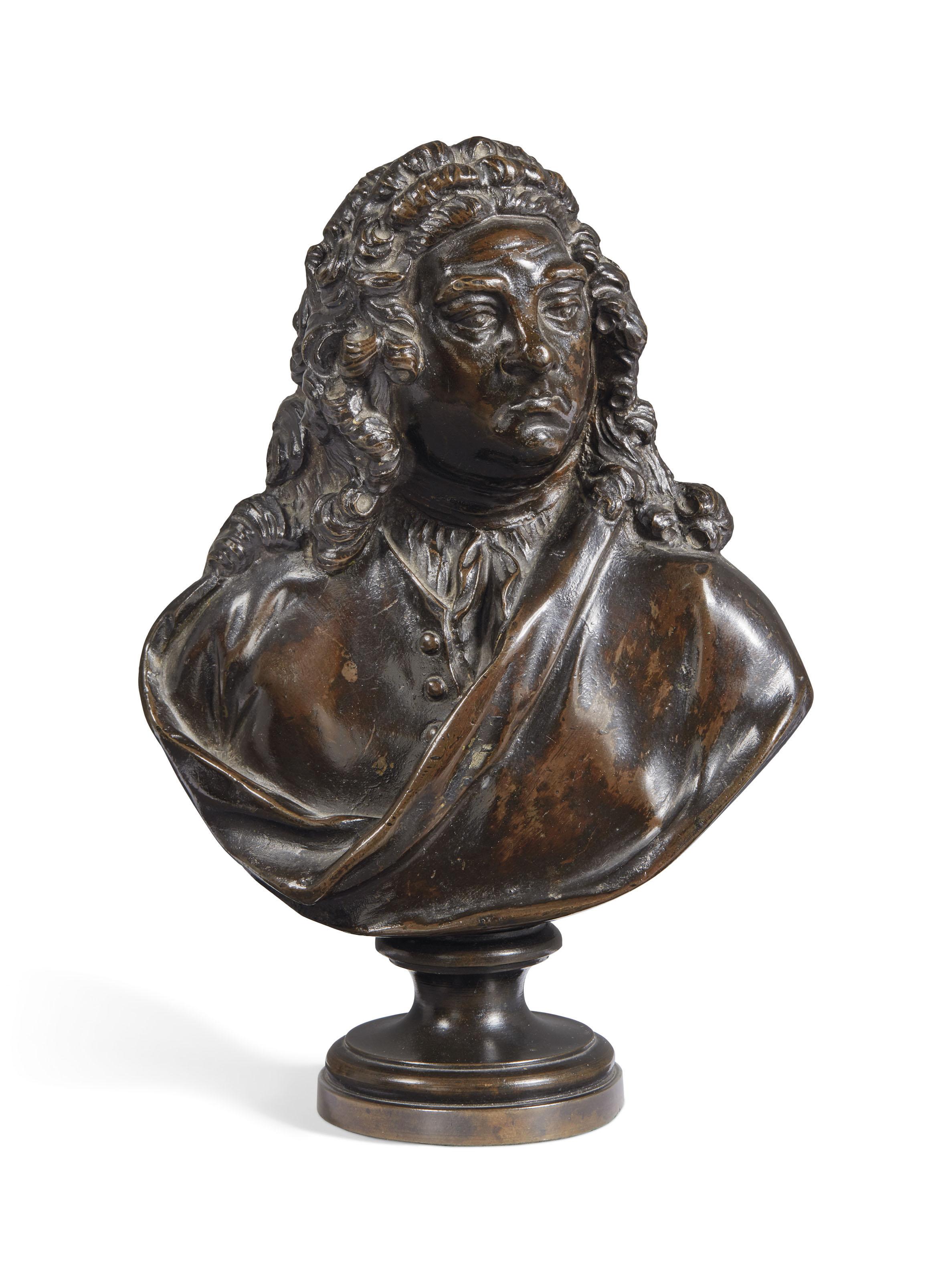 BUSTE EN BRONZE REPRESENTANT GEORGES FREDERICK HAENDEL (1685-1759)