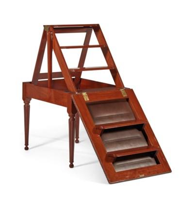 tabouret formant escabeau de bibliotheque de style louis xvi christie 39 s. Black Bedroom Furniture Sets. Home Design Ideas
