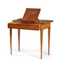 TABLE A ECRIRE FORMANT COIFFEUSE D'EPOQUE LOUIS XVI