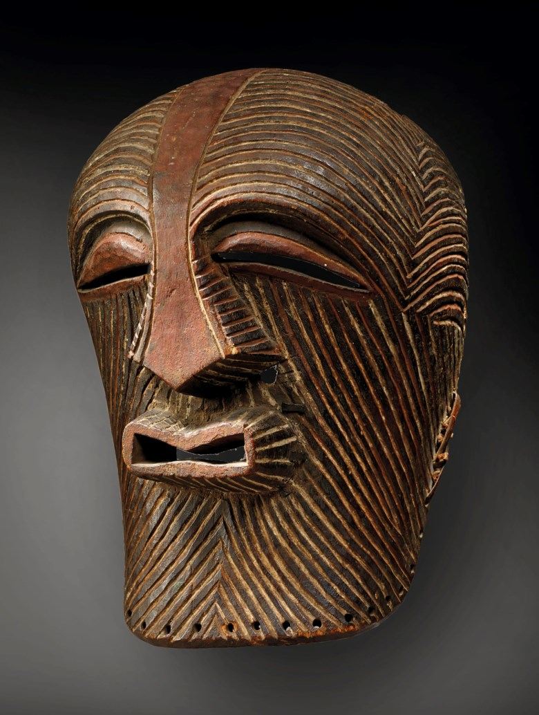 A Songye kifwebe mask, Congo. Height 33  cm (13  in). Estimate €200,000-400,000. This lot is offered in Masterpieces of African and Oceanic Art from the Adolphe Stoclet Collectionon 30 October 2018 at Christie's in Paris