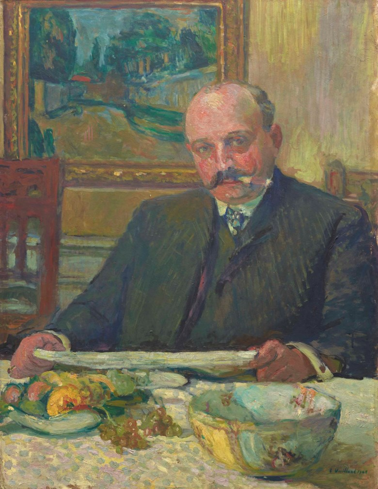 Édouard Vuillard (1868-1940), Portrait de Jos Hessel, painted in 1905. 86.5 x 66.5  cm. Estimate €80,000-120,000. This lot is offered in Hommage à la famille Hessel  mécènes et modèles on 23 March 2018  at Christie's in Paris
