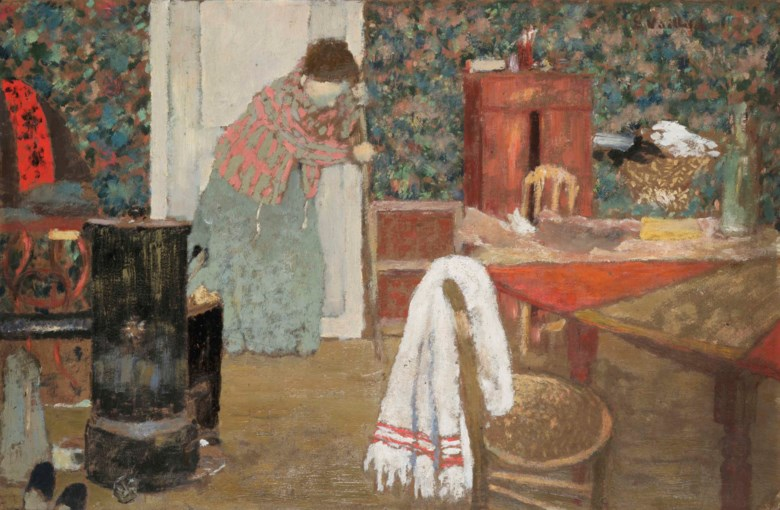 Édouard Vuillard (1868-1940), La balayeuse, 346 rue Saint-Honoré, painted in 1895. 33 x 50.8  cm. Estimate . This lot is offered in Hommage à la famille Hessel  mécènes et modèles on 23 March 2018  at Christie's in Paris
