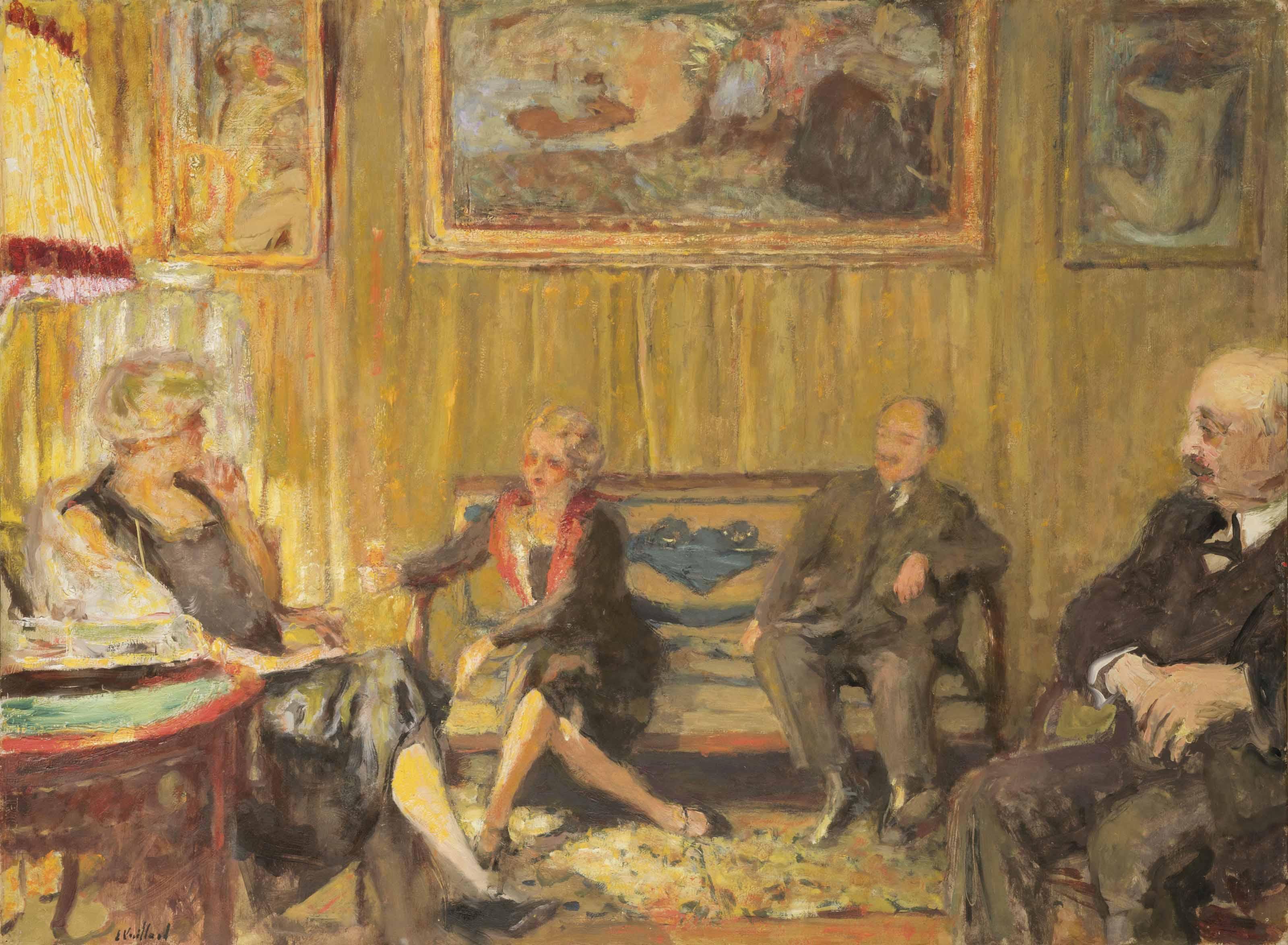 Douard vuillard 1868 1940 le petit salon rue de for Le petit salon de jimmy