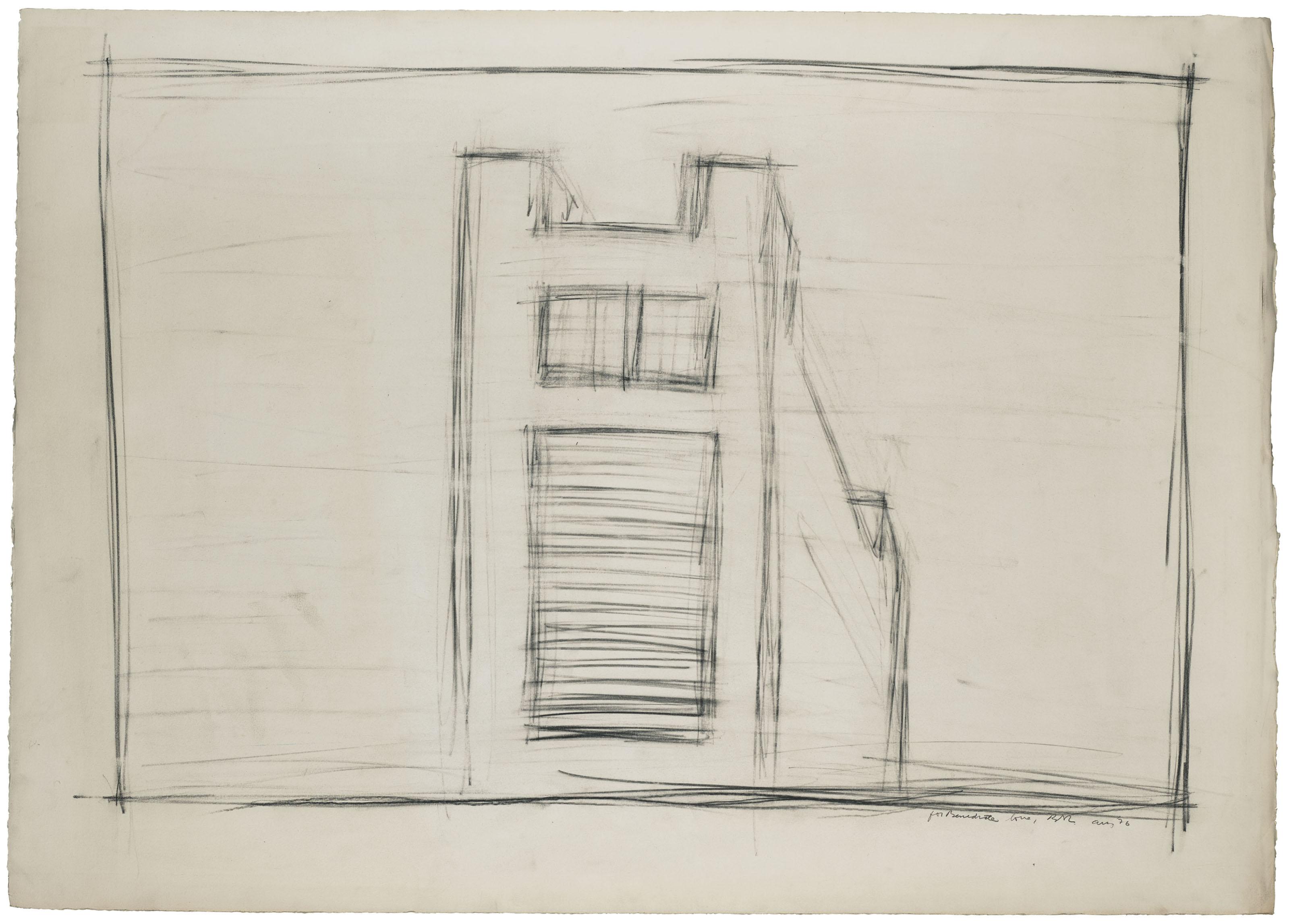 """Bed & Burling Drawings-Dessin original préparatoire pour l'Opéra """"Einstein on the Beach"""""""