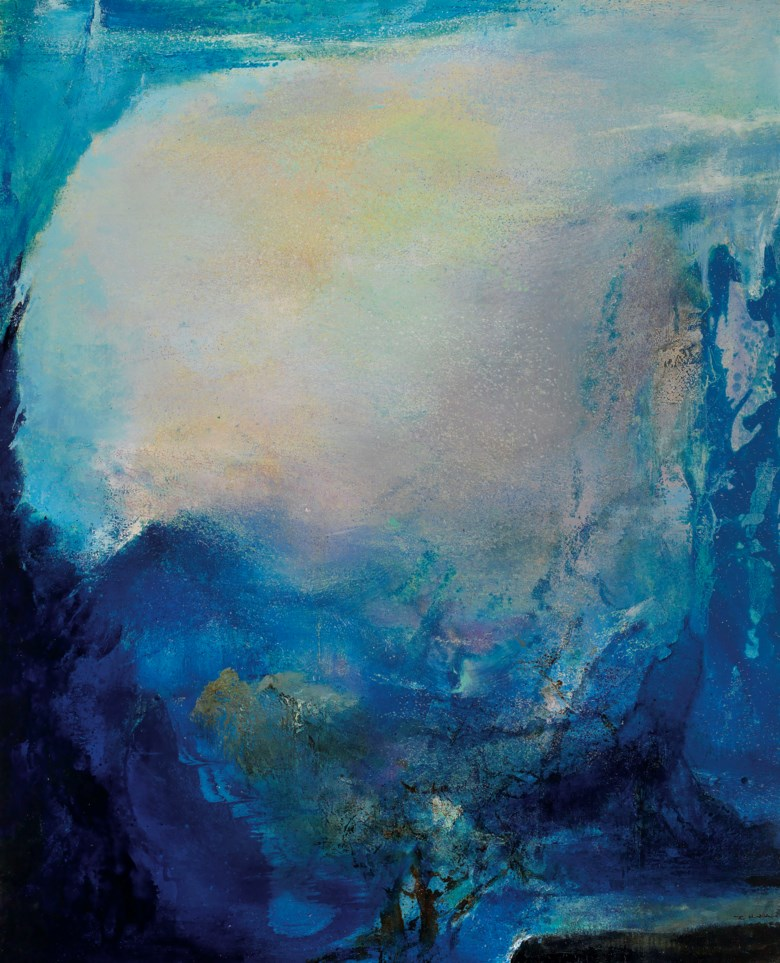 Zao Wou-Ki (Zhao Wuji, 1920-2013), 13.02.92, painted in 1992. 200 x 162  cm (78¾ x 63¾  in). Estimate CNY 16,000,000-26,000,000. This lot is offered in 20th Century & Contemporary Art (Evening Sale) on 21 September 2018 at Christie's in Shanghai