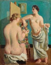 Deux nus dans intérieur, um 1926