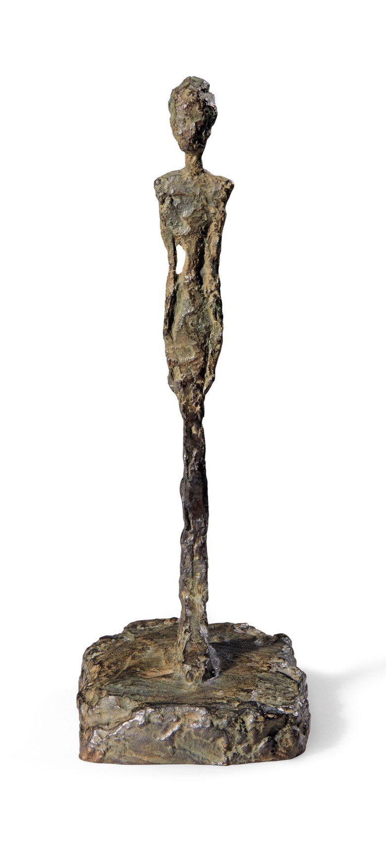 Alberto Giacometti (1901-1966), Figurine de Londres I, 1965 (Guss 1966). 25,9 x 9,1 x 13,6 cm. Sold for CHF 1,812,500 on 18 September 2018 at Christie's in Zurich