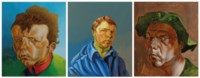 (i) Philip Akkerman, schilderij 2000, nr. 77  (ii) Philip Akkerman, schilderij 2001, nr. 76 (iii) Philip Akkerman, schilderij 2002, nr. 54