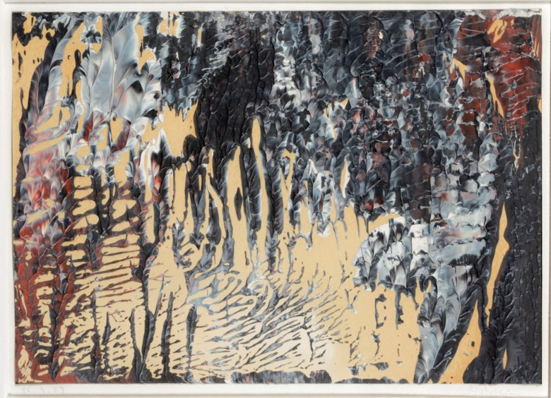 Gerhard Richter (b. 1932), 16.3.89, 1989. Oil on paper. Overall 22 x 30.5 cm. Estimate €70,000-100,000. Offered in Post-War & Contemporary Art on 25-26 November 2019 at Christie's in Amsterdam