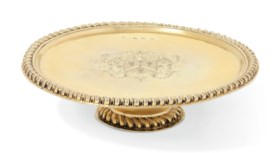 A WILLIAM AND MARY SILVER-GILT TAZZA