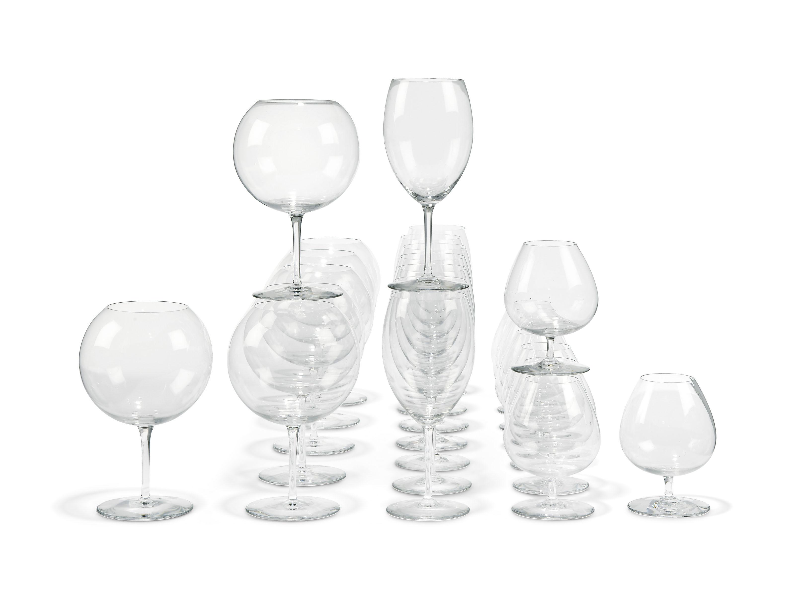 A BACCARAT GLASS PART TABLE-SE
