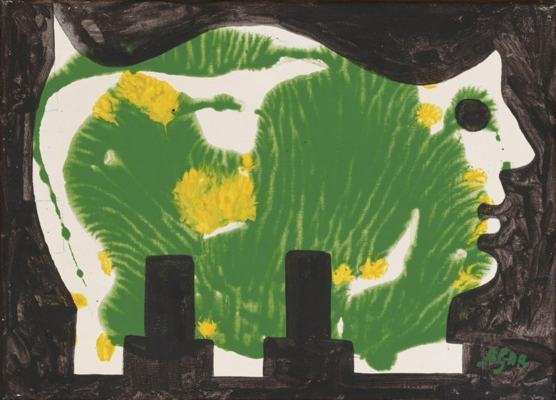 Eileen Agar, R.A. (1899-1991), Animal, painted in 1967. 9¾ x 13¾  in (24.7 x 35  cm). Estimate £2,000-3,000. Offered in Modern  British & Irish Art on 9 April 2019 at Christie's in London