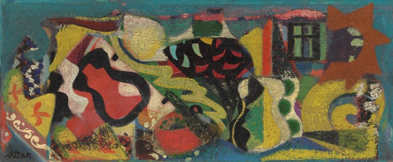 Eileen Agar, R.A. (1899-1991), No. 18 Musical Garden, 1947. 5⅞ x 14  in (14.9 x 35.5  cm). Estimate £5,000-8,000. Offered in Modern  British & Irish Art on 9 April 2019 at Christie's in London