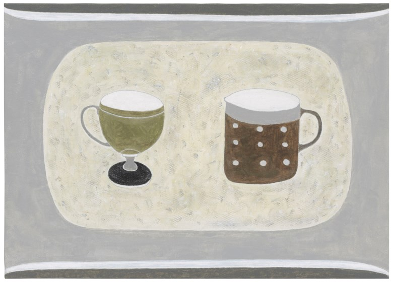 Rachel Nicholson (b. 1934), Green and Brown, 2003-2005. 10 x 14  in (25.4 x 35.6  cm). Estimate £1,500-2,500. Offered in Modern  British & Irish Art on 9 April 2019 at Christie's in London