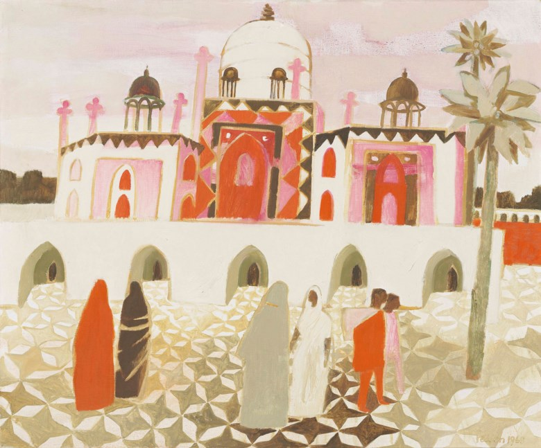 Mary Fedden, R.A. (1915-2012), Humayuns Mosque, Agra, 1968. 30 x 36  in (75.8 x 91.5  cm). Estimate £7,000-10,000. Offered in Modern  British & Irish Art on 9 April 2019 at Christie's in London