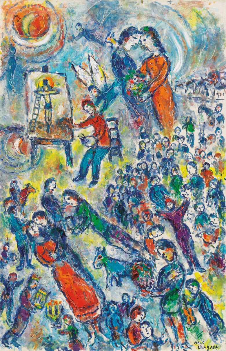 Marc Chagall (1887-1985), Le rêve du peintre, painted circa 1980. 39¼ x 25½  in (99.7 x 64.8  cm). Estimate £1,200,000-1,800,000. Offered in Impressionist and Modern Art Evening Sale  on 27 February 2019 at Christie's in London