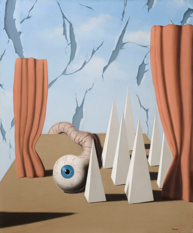 René Magritte (1898-1967), Le monde poétique II, 1937. 25¾ x 21¼  in (65.5 x 54  cm). Estimate £1,500,000-2,500,000. Offered in The Art of the Surreal Evening Sale on 27 February 2019 at Christie's in London