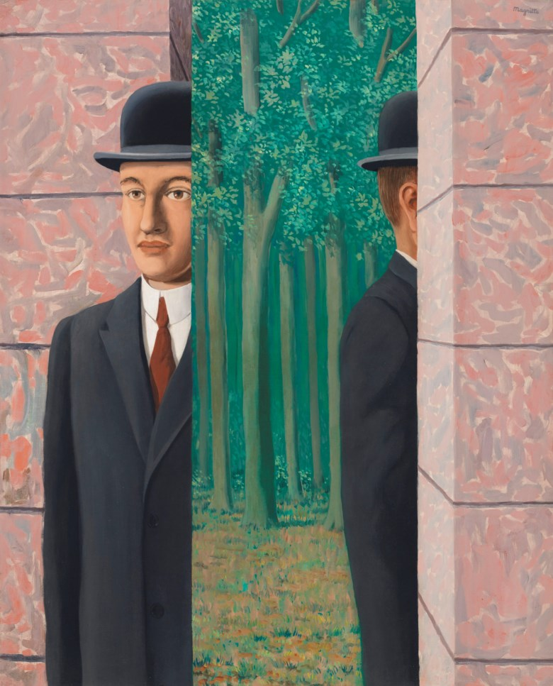 René Magritte (1898-1967), Le lieu commun, 1964. 39⅜ x 31⅞  in (100 x 81  cm). Estimate on request. Offered in The Art of the Surreal Evening Sale on 27 February 2019 at Christie's in London