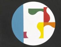 Composition dans un cercle blanc sur fond noir