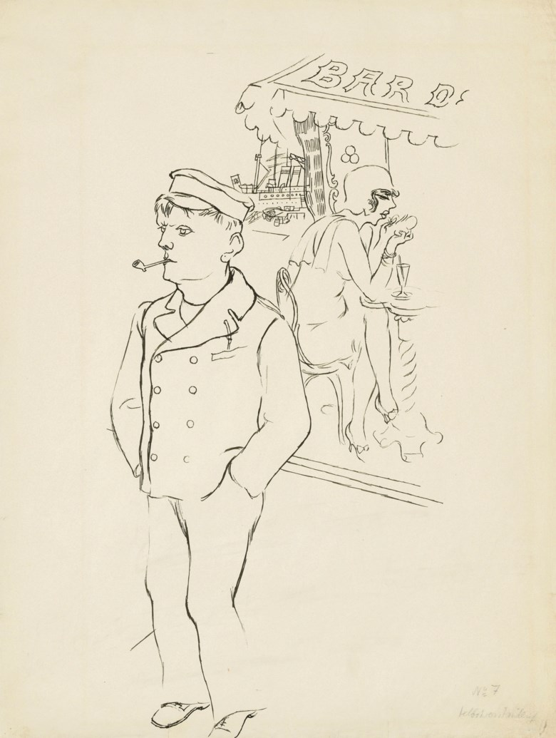 George Grosz (1893-1959), Selbstversta¨ndlich, 1929. 24¾ x 18¾  in (63 x 47.5  cm). Estimate £18,000-25,000. Offered in Impressionist and Modern Works on Paper on 28 February 2019 at Christie's in London