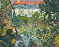 Le jardin de la maison au toit rouge