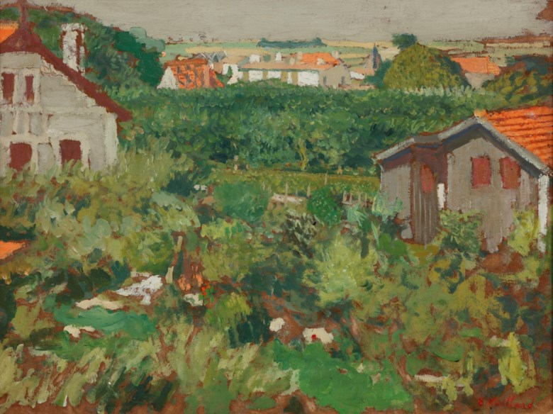 Edouard Vuillard (1868-1940), Maisonnettes dans un enclos, 1909. 10⅜ x 13¼  in (26.5 x 33.5  cm). Estimate £25,000-35,000. Offered in Impressionist and Modern Art Day Sale on 28 February 2019 at Christie's in London