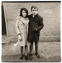 Teenage couple on Hudson Street N.Y.C, 1963