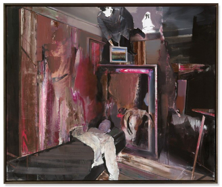 Adrian Ghenie (b. 1977), The Collector 4, 2009. Oil on canvas. 78⅞ x 94½ in (200.3 x 240 cm). Estimate £2,200,000-2,800,000. Offered in Post-War and Contemporary Art Evening Auction on 6 March 2019 at Christie's in London