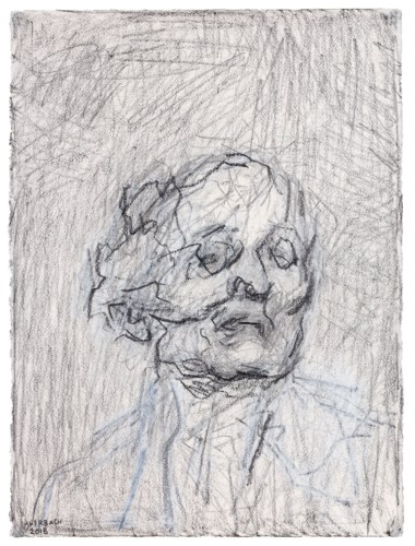 Frank Auerbach (b. 1931), Self Portrait V, executed in 2018. Graphite and chalk on paper. 30¼ x 22⅝ in (76.8 x 57.5 cm). Estimate £80,000-120,000. Offered in Post-War and Contemporary Art Day Auction on 7 March 2019 at Christie's in London