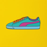 Untitled (yellow trainer)