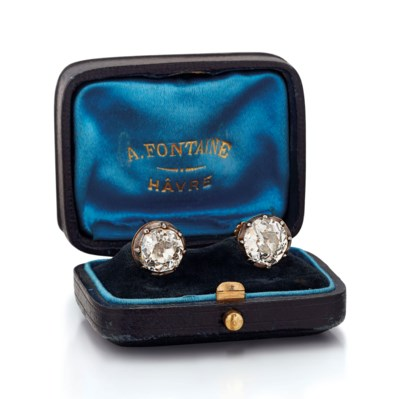 LATE 19TH CENTURY DIAMOND EARR