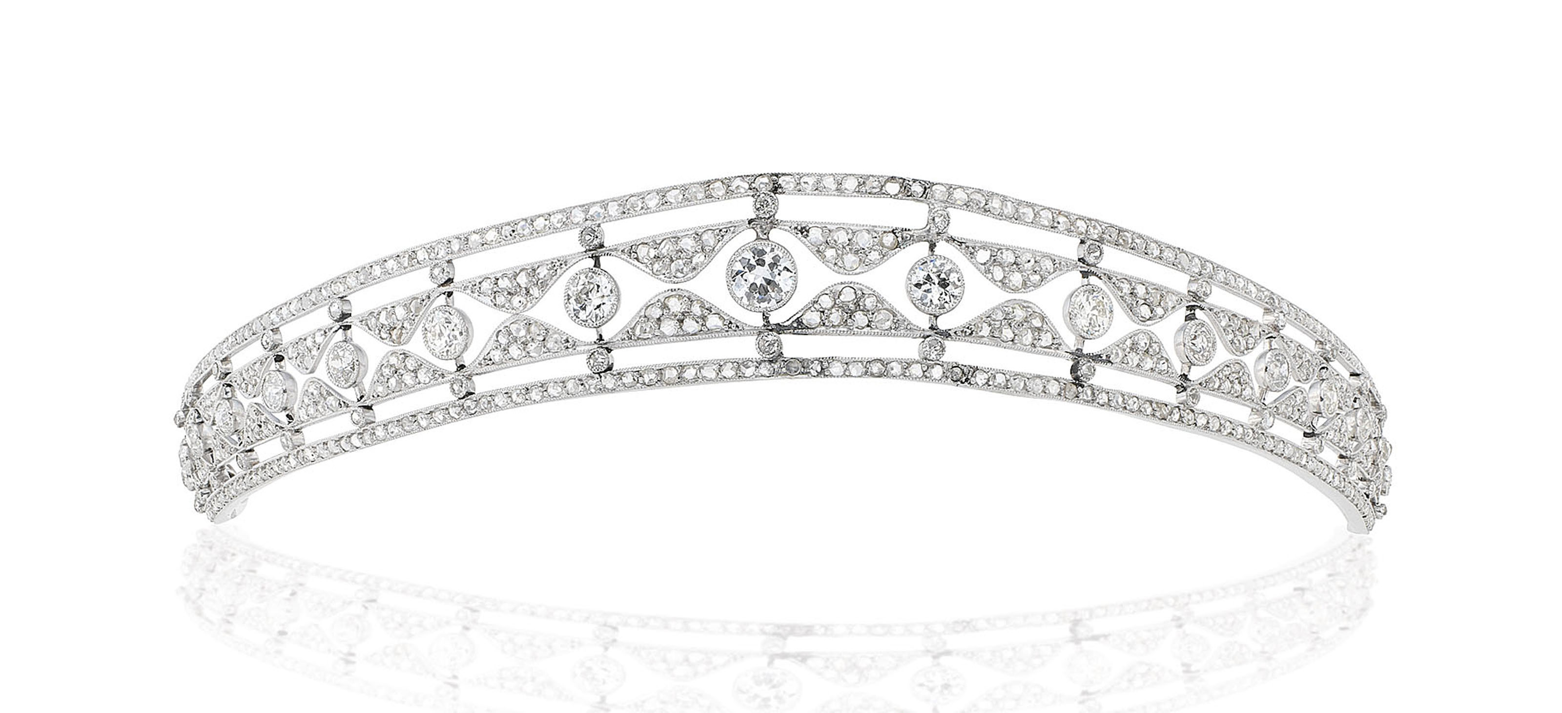 EARLY 20TH CENTURY DIAMOND TIARA