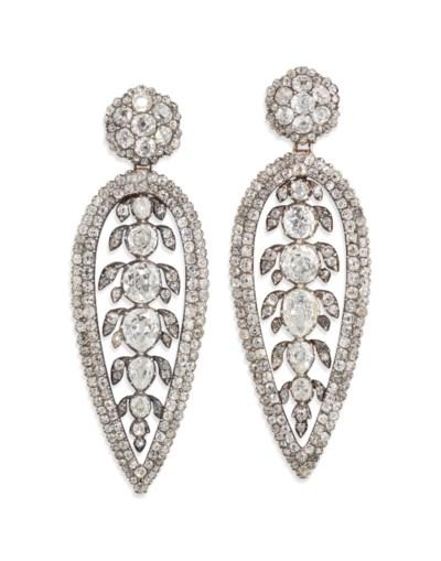 GEORGE III DIAMOND EARRINGS