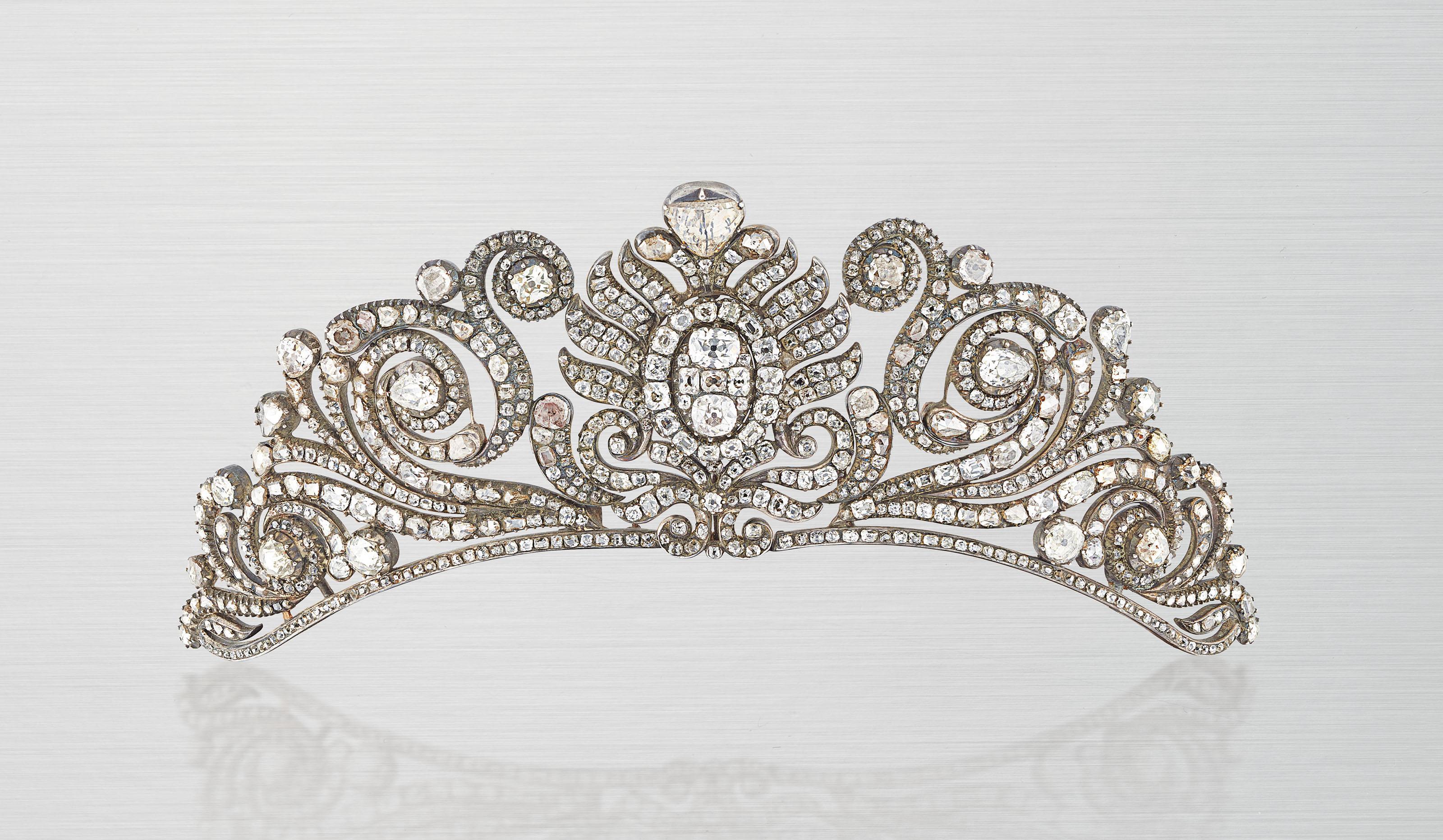 A RARE LATE 18TH / EARLY 19TH CENTURY DIAMOND TIARA