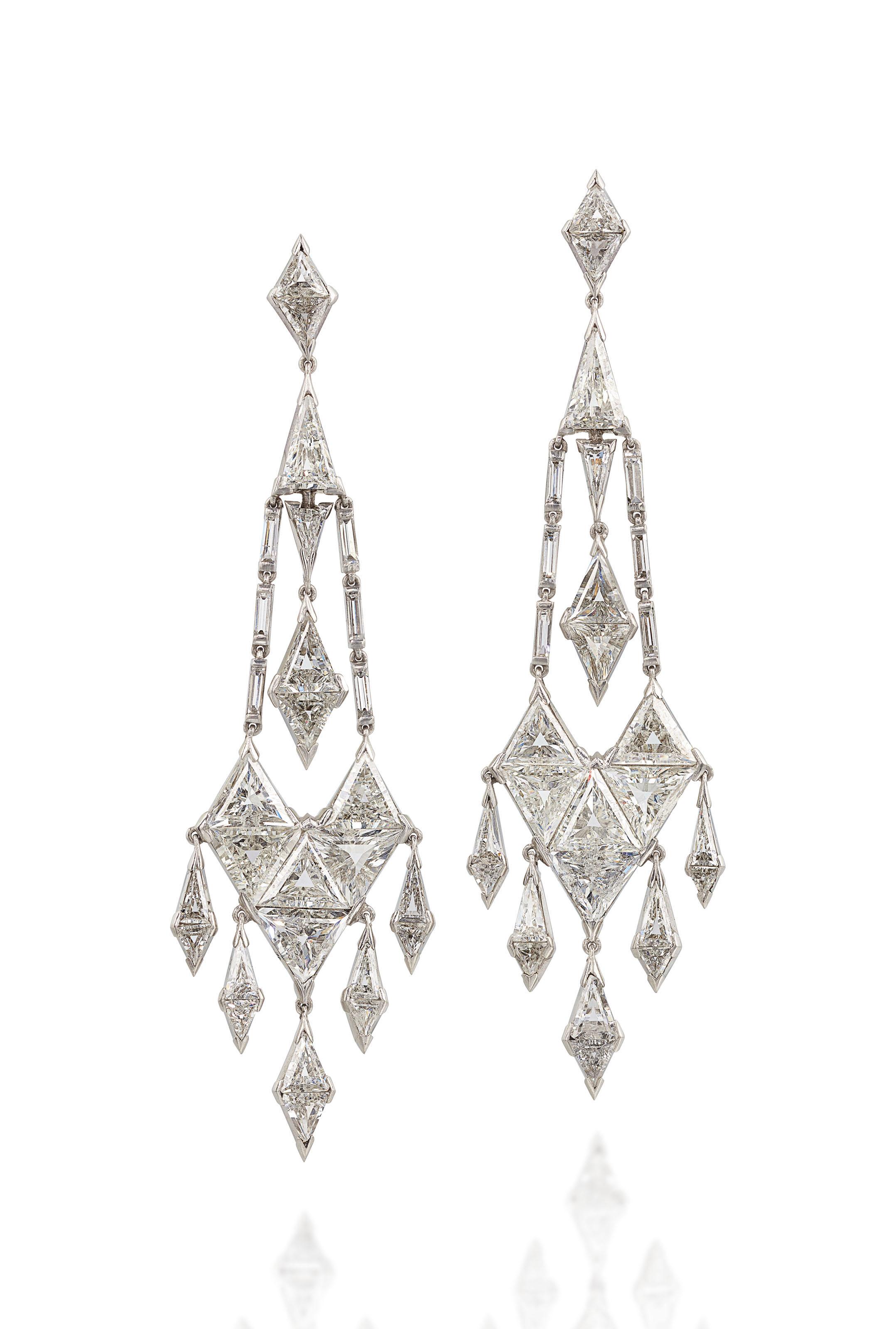Elegant Art D 201 Co Diamond Earrings Christie S