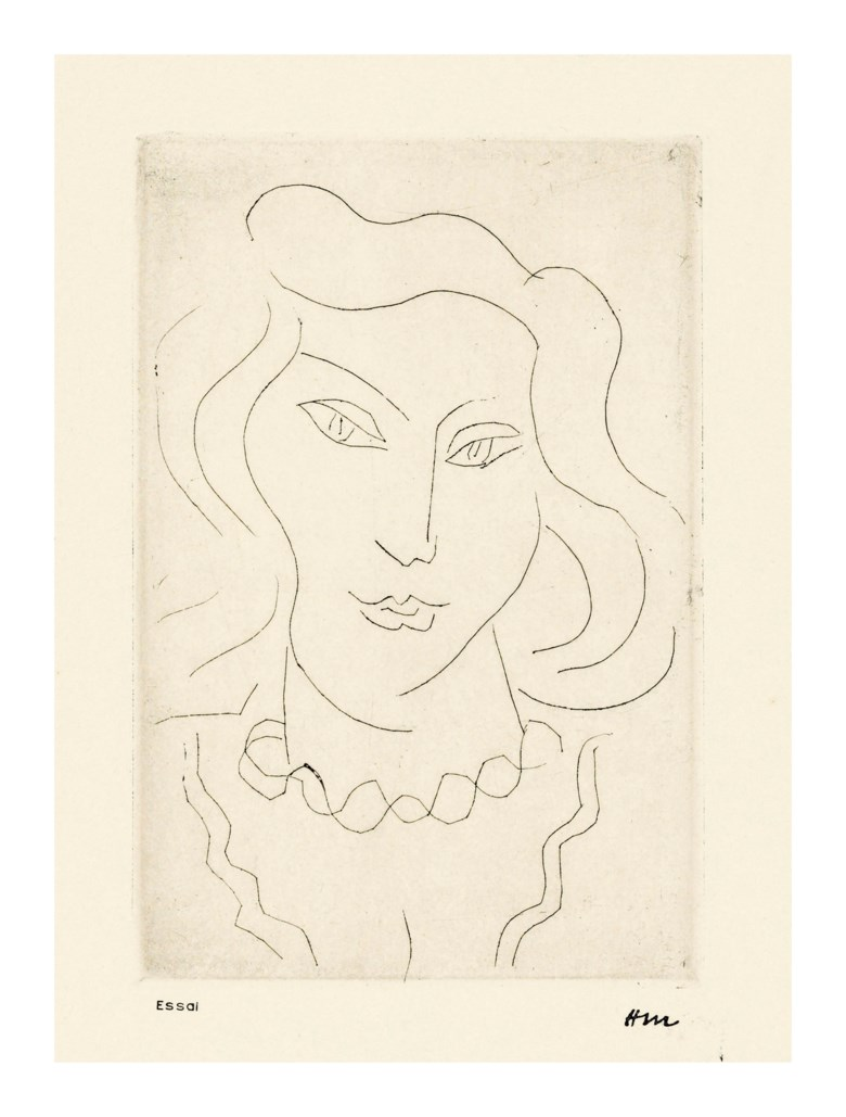 Henri Matisse (1869-1954), Jeune fille au chapeau devant la glace, 1931. Etching. Sheet 335 x 250 mm (D 307). Estimate £6,000-8,000. Offered in  Modern Edition, 9-16 May 2019, Online