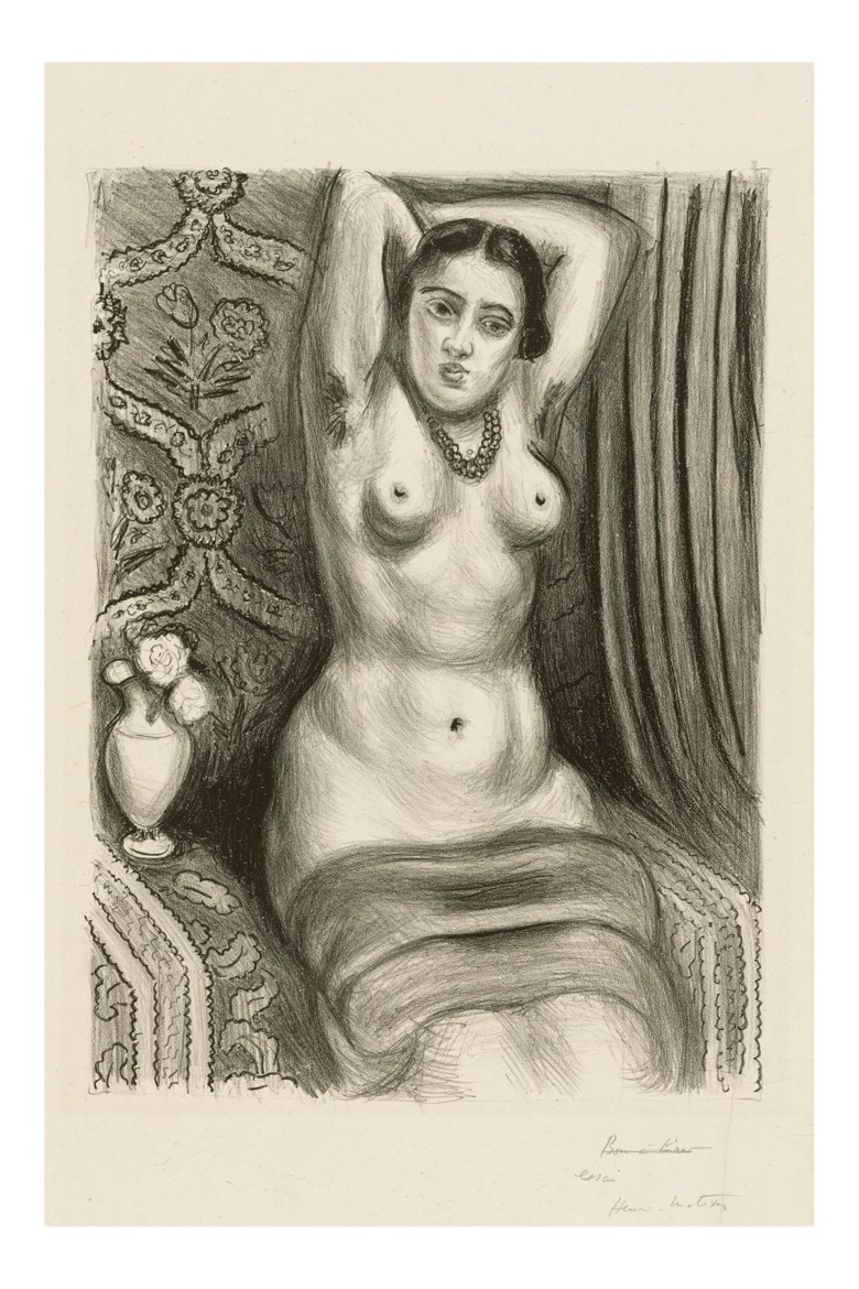 Henri Matisse (1869-1954), Torse a laiguiere, 1927. Lithograph. Sheet 514 x 354 mm. Estimate £10,000-15,000. Offered in  Modern Edition, 9-16 May 2019, Online