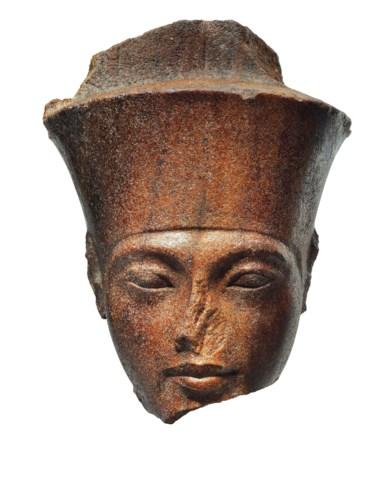 AN EGYPTIAN BROWN QUARTZITE HE